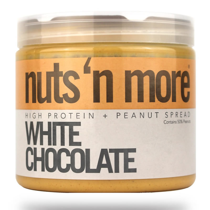 NUTS N MORE PEANUT BUTTER 450GR WHITE CHOCO