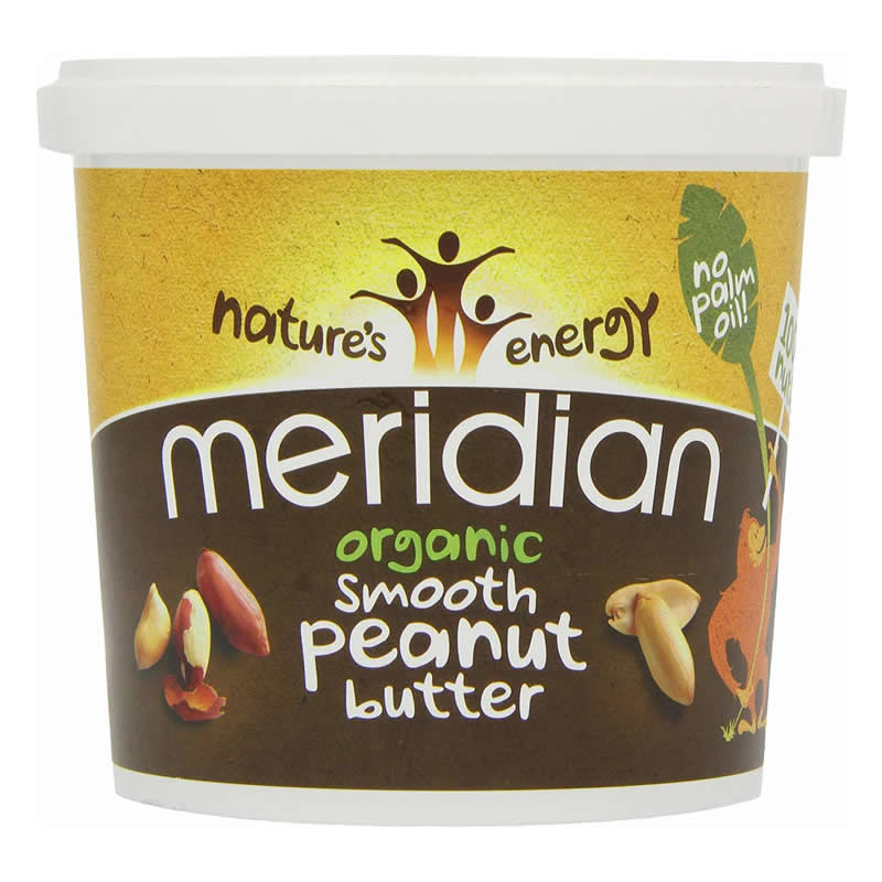 MERIDIAN PEANUT BUTTER SMOOTH ORGANIC 1000GR