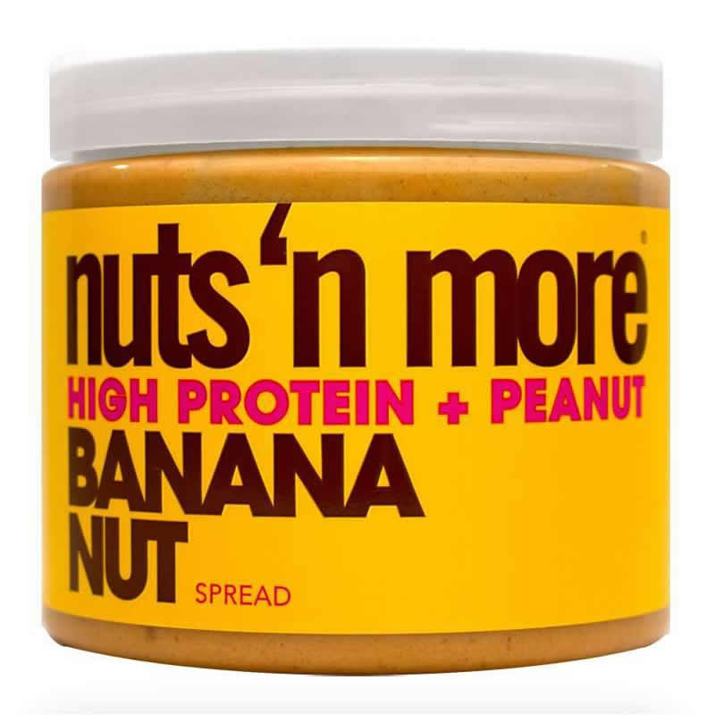 NUTS N MORE PEANUT BUTTER 450GR BANANA NUT