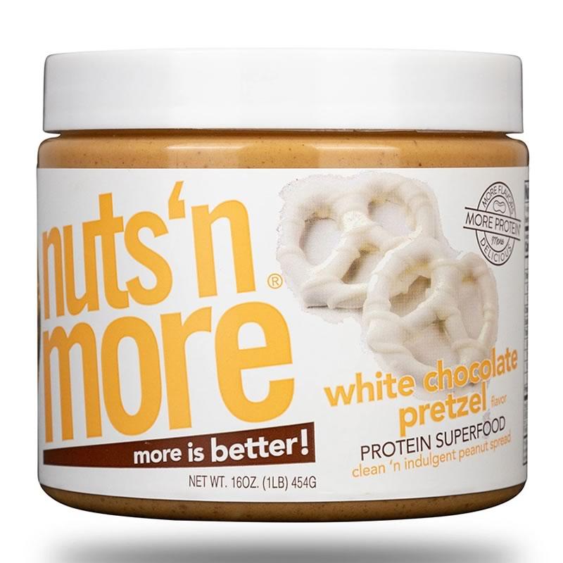 NUTS N MORE 450GR  WHITE CHOCOLATE PRETZEL