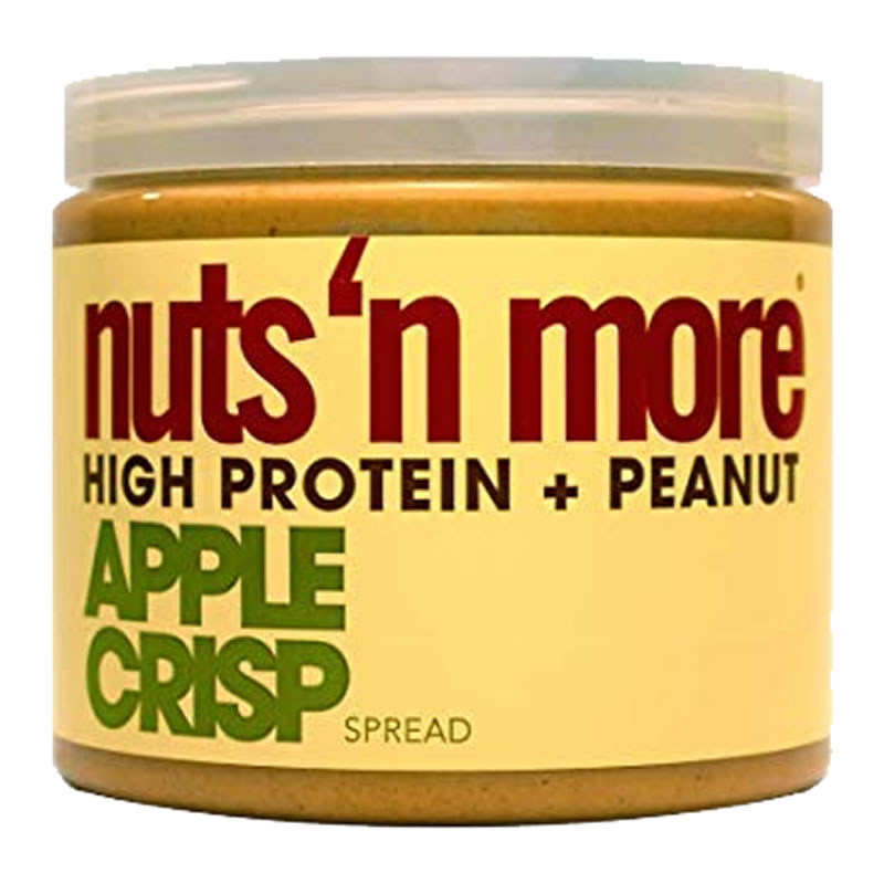 NUTS N MORE PEANUT BUTTER 450GR APPLE CRISP