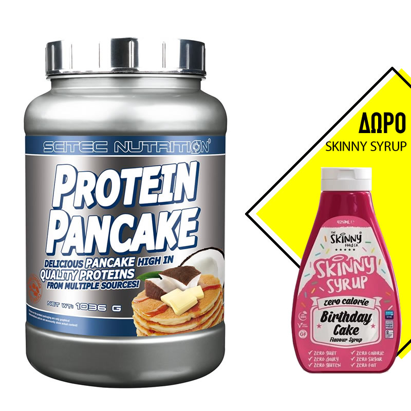 SCITEC NUTRITION PROTEIN PANCAKE 1035GR 28SERVS + ΔΩΡΟ THE SKINNY FOOD CO SKINNY SYRUP 425ML