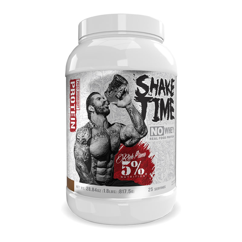 RICH PIANA 5% NUTRITION SHAKE TIME PROTEIN 1.8LBS 815GR  25SERVINGS