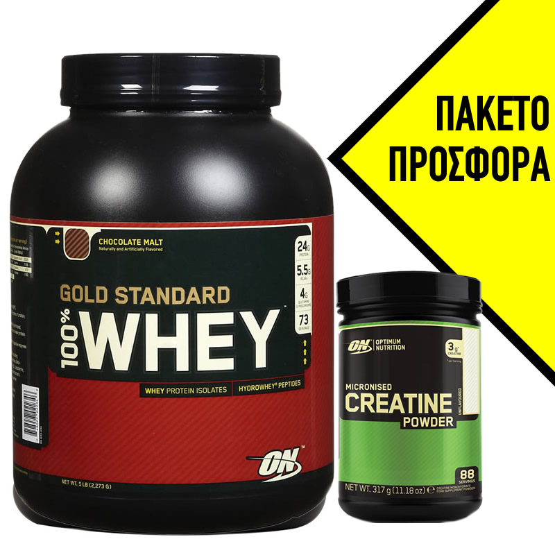 OPTIMUM NUTRITION 100% WHEY GOLD STANDARD + CREATINE 300GR OPTIMUM NUTRITION