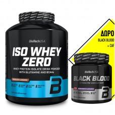 BIOTECH USA ISO WHEY ZERO 2270GR + ΔΩΡΟ BLACK BLOOD + CAF 300GR