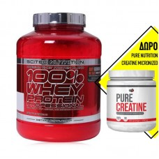 SCITEC NUTRITION 100% WHEY PROFESSIONAL 2350GR + ΔΩΡΟ PURE NUTRITION CREATINE MICRONIZED 250GR