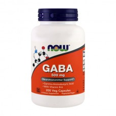 NOW FOODS GABA  500MG WITH B6 100VCAPS
