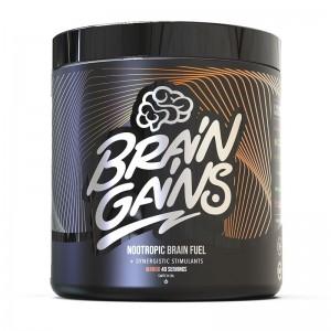 BRAIN GAINS NOOTROPIC BRAIN FUEL BLACK EDITION 40SERVS 300GR