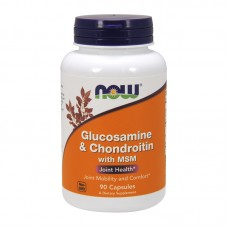 NOW FOODS GLUCOSAMINE&CHONDROITINE WITH MSM 90CAPS