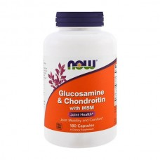 NOW FOODS GLUCOSAMINE & CHONDROITINE WITH MSM 180VCAPS