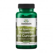SWANSON FULL SPECTRUM BOSWELLIA AND CURCUMIN 300MG 60CAPS