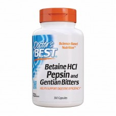 DOCTOR'S BEST BETAINE HCL PEPSIN AND GENTIAN BITTERS 650MG 120CAPS