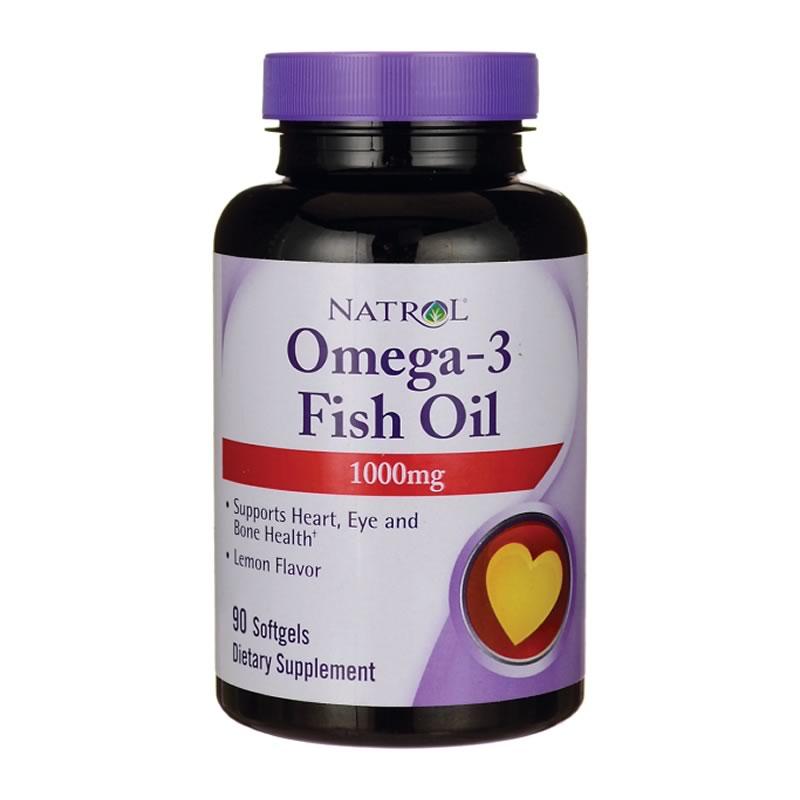 NATROL OMEGA 3 FISH OIL 1000MG 90SGELS