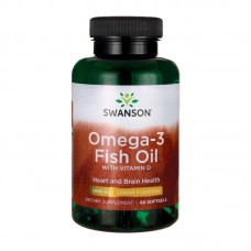SWANSON OMEGA-3 FISH OIL WITH VITAMIN D 60SGELS