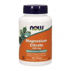 NOW FOODS MAGNESIUM CITRATE 200MG 100TABS