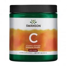 SWANSON 100% PURE VITAMIN C 1000 POWDER 454GR