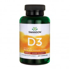 SWANSON VITAMIN D3-2000IU HIGH POTENCY DRY 250SGELS