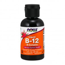 NOW FOODS VITAMIN B-12 LIQUID B-COMPLEX 20Z 60ML