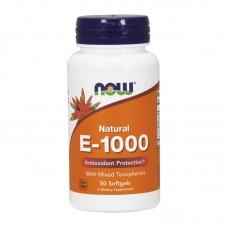 NOW FOODS E-1000 MIXED TOCOPHEROLS 50SGELS