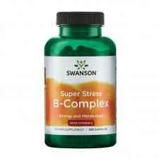 SWANSON SUPER STRESS B-COMPLEX WITH VITAMIN C 100CAPS
